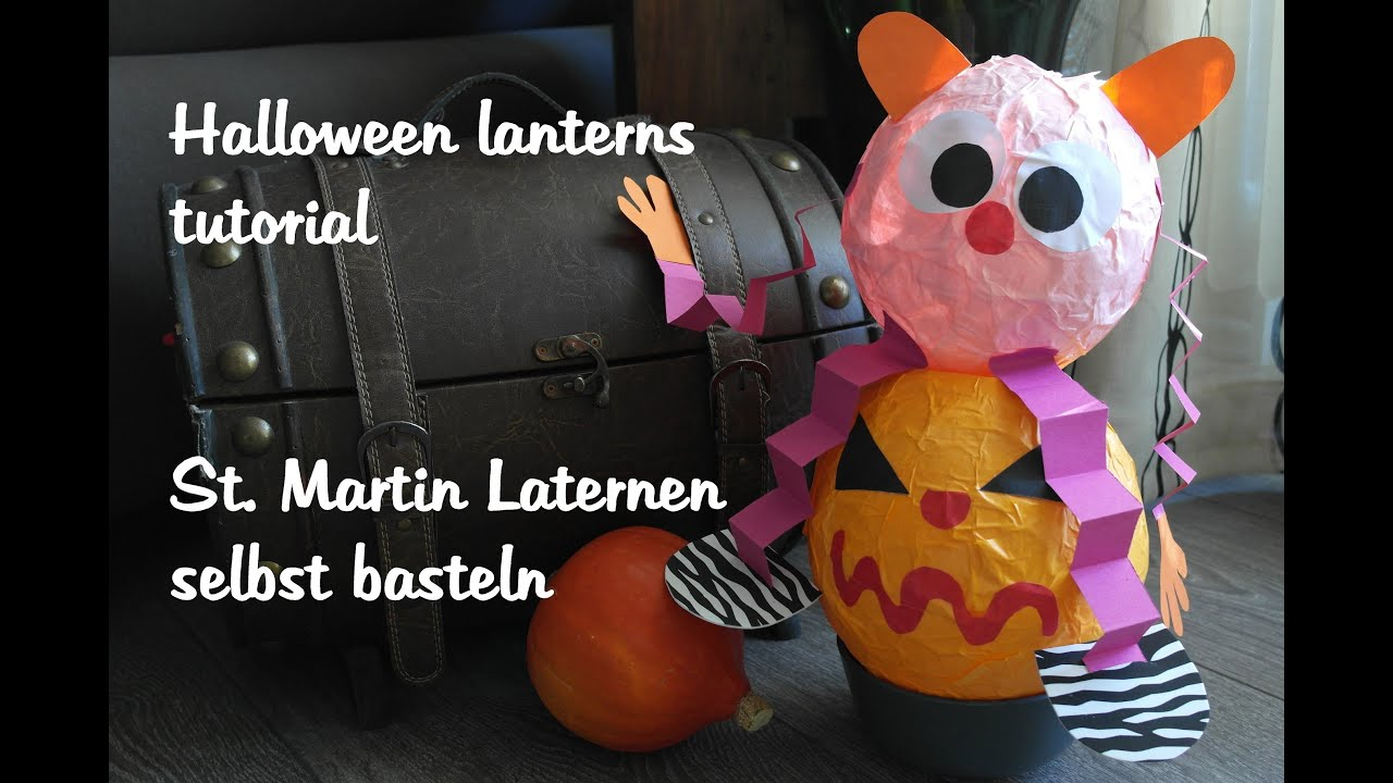 how to make a paper lantern wie bastle ich eine laterne diy halloween decorations youtube - How To Make Halloween Lanterns