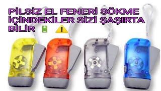 El feneri sökme parçalama ışıldak sökme parçalama flashlight disassembly shredding