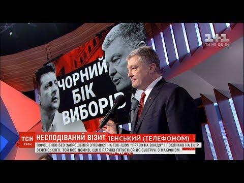 Порошенко і Зеленський публічно поговорили телефоном в ток-шоу