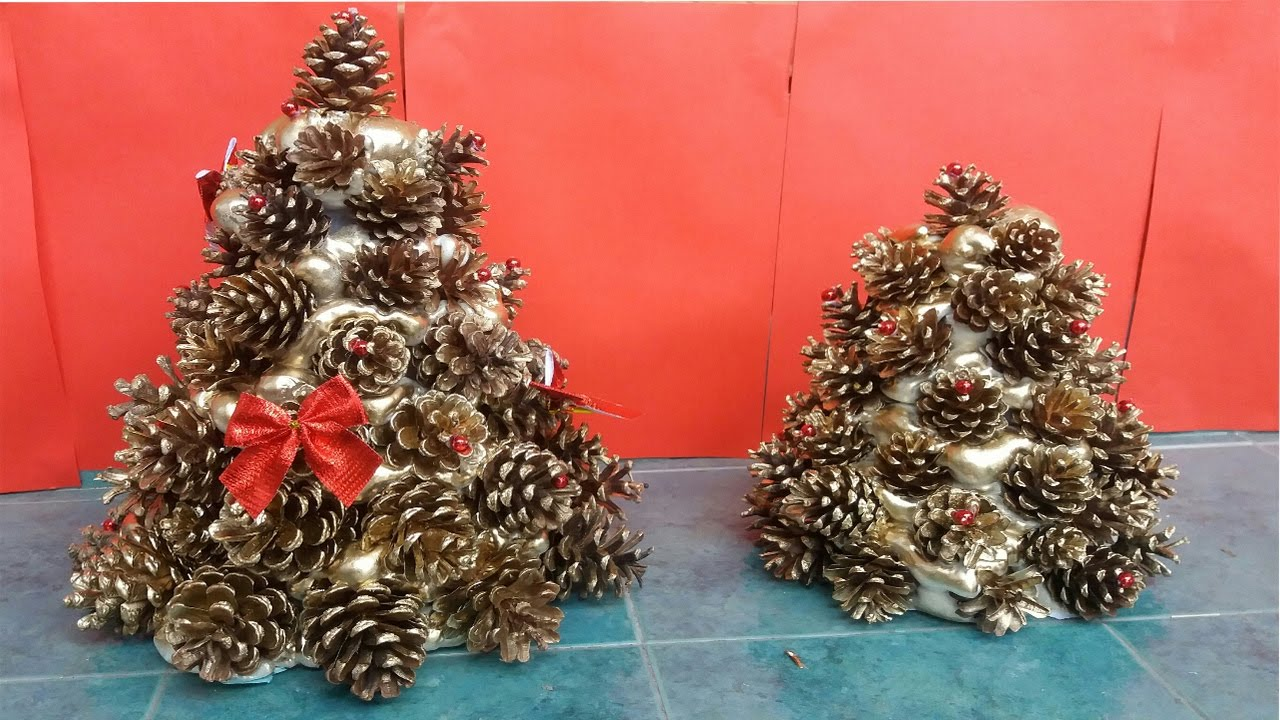 how to make pine cones christmas tree