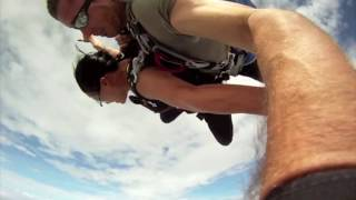 Repeat youtube video Near death airplane collision with skydiver in free fall