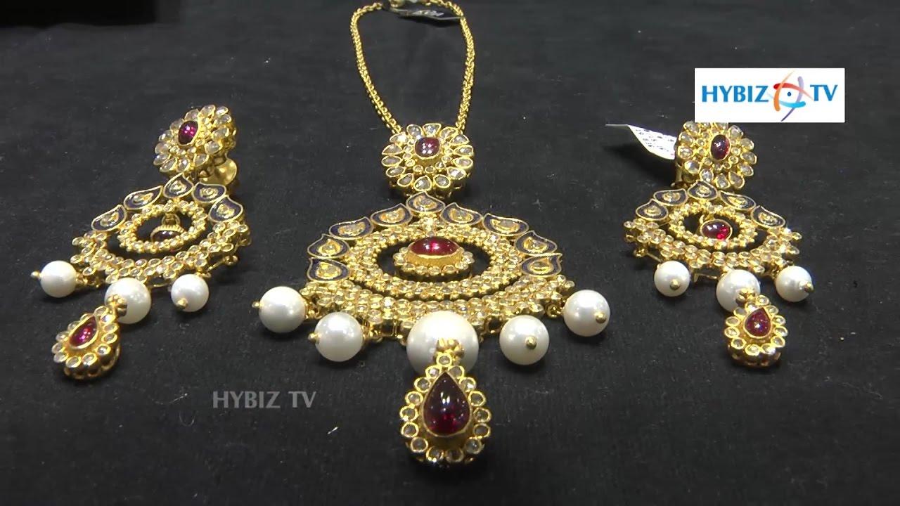 Malabar gold jewellery designs dubai - Pearl Pendant Gold Necklace Design Set Malabar Gold And Diamonds
