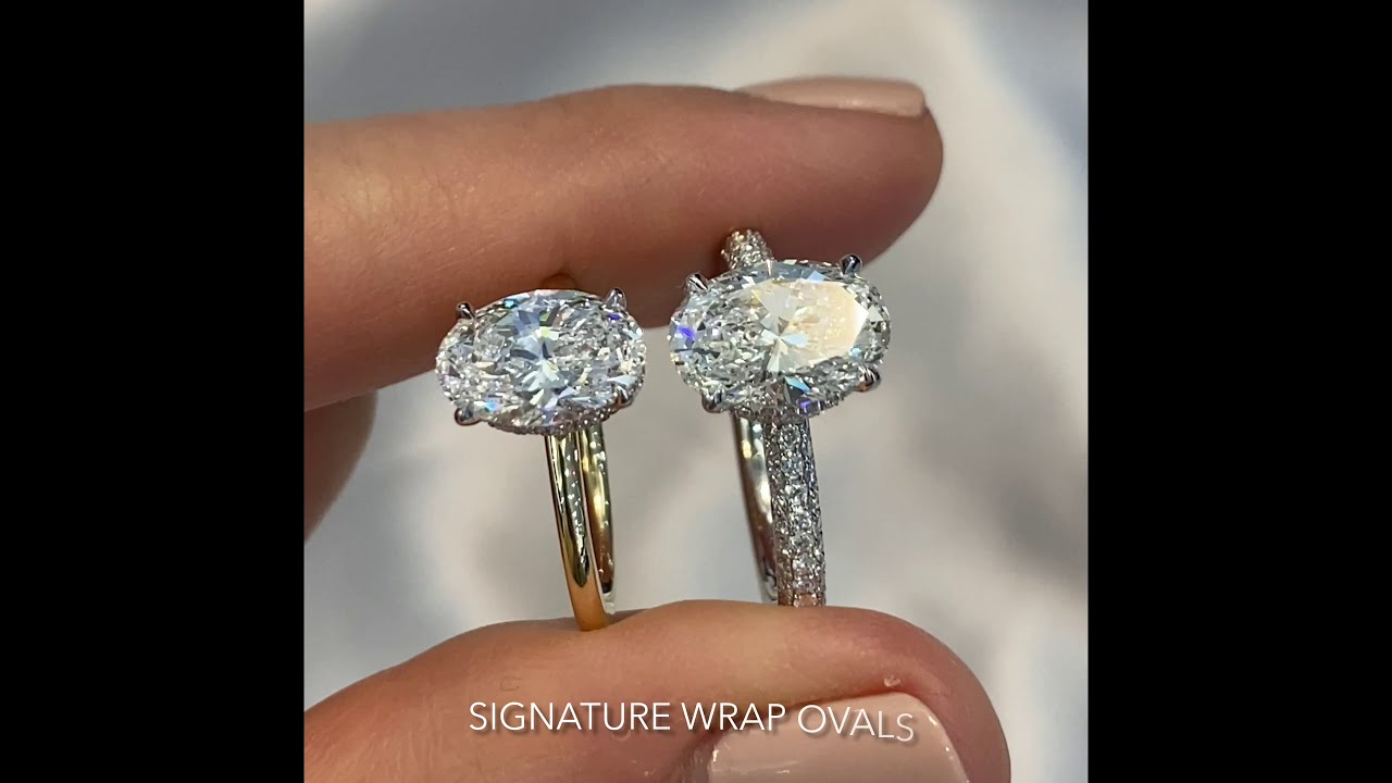 1.8 ct VS 2.3 ct Oval Diamond Signature Wrap Designs