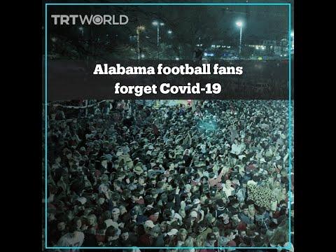 Social distancing fail as fans celebrate Alabama football triumph