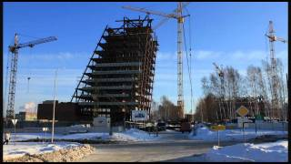 Технопарк Новосибирского академгородка. Timelapse
