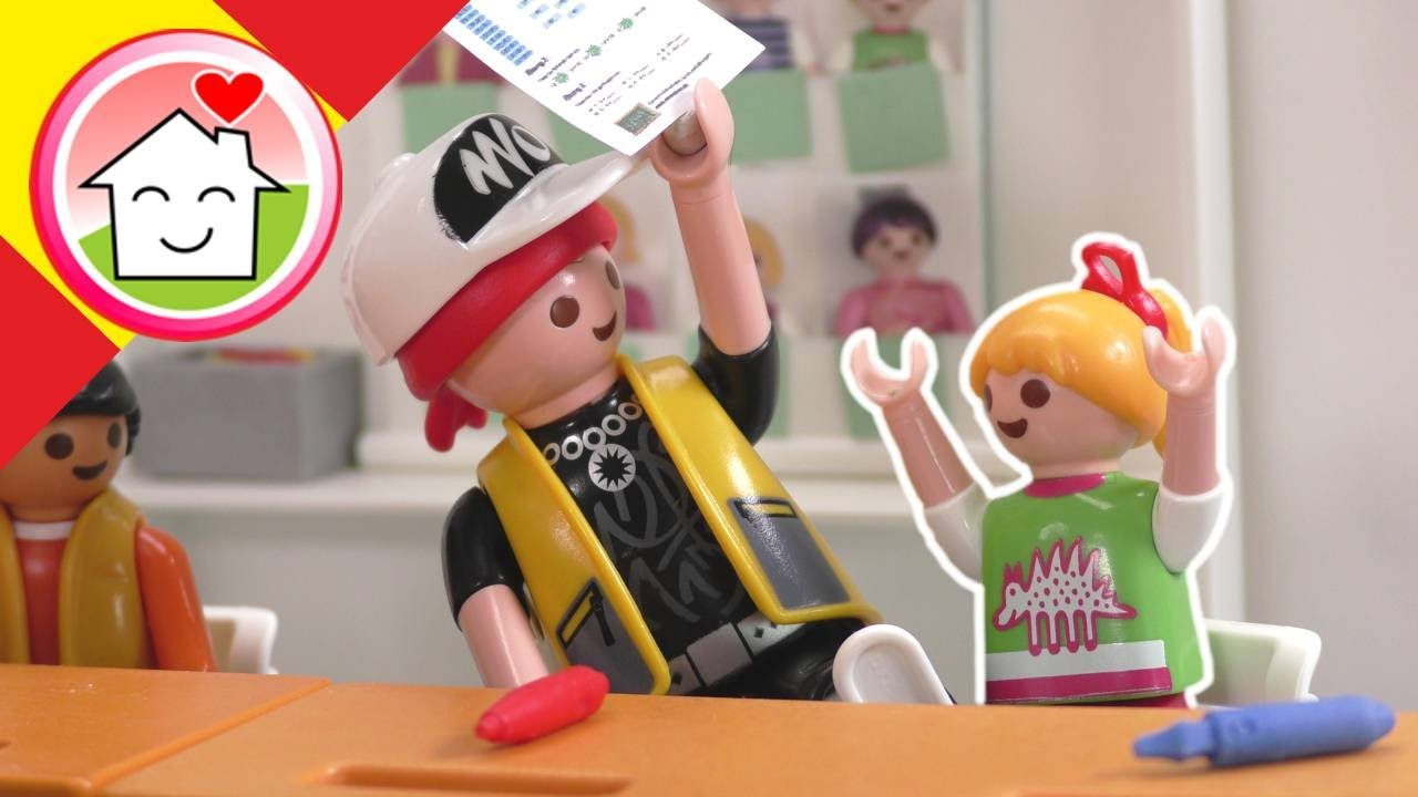 Playmobil en español Sigi en la clase de Lena - La familia Hauser