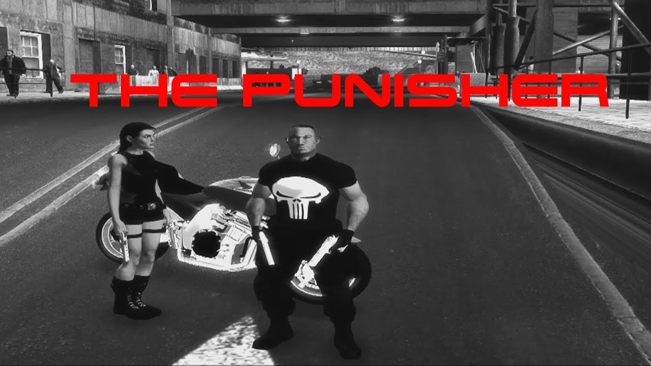 GTA 4 The Punisher & Angelina Jolie Action Player Ped Skin Mods ENB Series  by oiPT