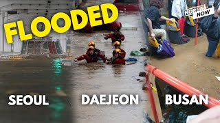 Real footages captured by citizens reveal flooded cities amid Korea's longest monsoon in 7 years