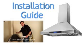 how to install a wall mount range hood   pljw 129