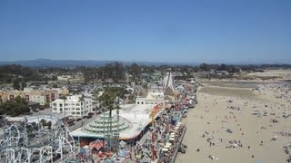 Double Shot drop tower on-ride HD POV Santa Cruz Beach Boardwalk