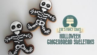 Halloween Skeleton Cookie Using Royal Icing
