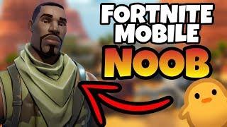 NOOB PLAYS FORTNITE MOBILE! / 0 Wins / Fortnite Mobile NOOB Gameplay Live!