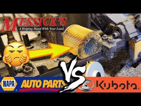 NAPA VS KUBOTA (hydraulic oil filters) - What's inside???