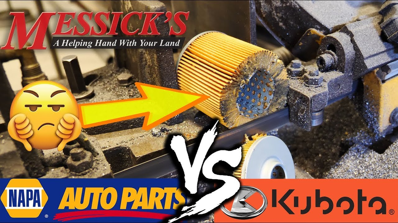 NAPA VS KUBOTA (hydraulic oil filters) - What's inside???