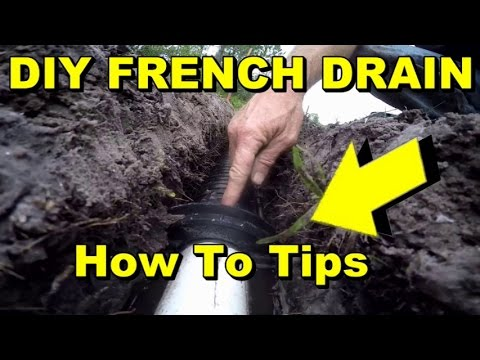 Diy french drain costs how to tips complete install trench pipe diy french drain costs how to tips complete install trench pipe connection backfill solutioingenieria Gallery