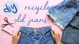 Easy DIY Renew Your old Jeans | Memperbarui Jeans Bekas