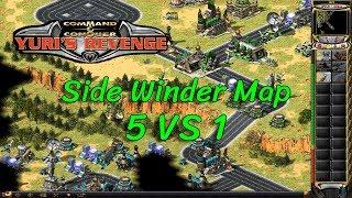 Red Alert 2 - Side Winder Map - 5 vs 1
