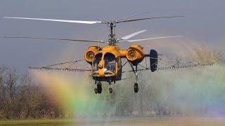 Kamov Ka-26 spraying liquid fertilizer near Nemesszalók, Hungary