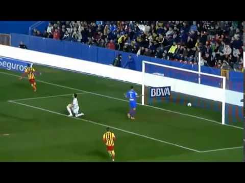 Leo Messi Skills & highlights vs Levante - Amazing 4 Assists - Levante 1-4 Barcelona 22/1/2014