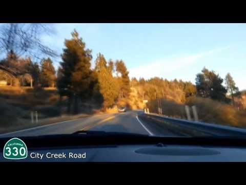 Driving into the mountains - San Bernardino to Running Springs - Highway 330