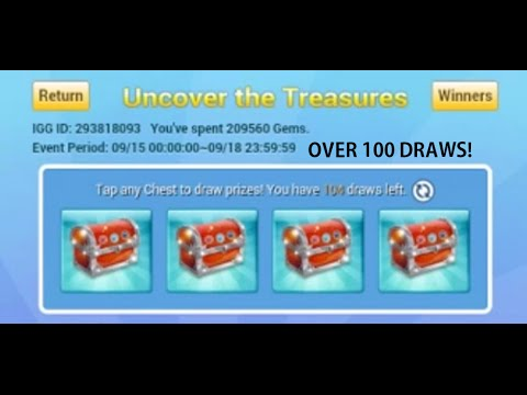 Opening OVER 100 UNCOVER THE TREASURE How Many Heroes? Castle Clash