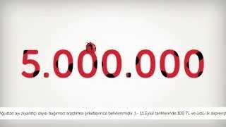 n11.com'u tercih eden 5.000.000 kişiye teşekkürler!