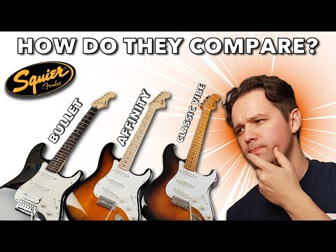 SUPER Stratocaster Comparison! - The Fender Squier Bullet VS Affinity VS Classic Vibe 50s