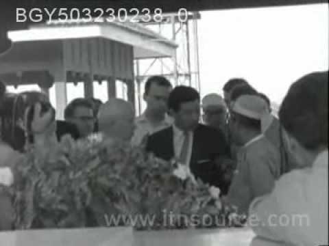 BURMA MYANMAR  Khrushchev visits Rangoon
