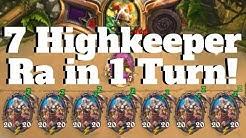 7 Highkeeper Ra in 1 Turn! 140 Damage Mogu Cultist OTK Combo! [Hearthstone Game of the Day]