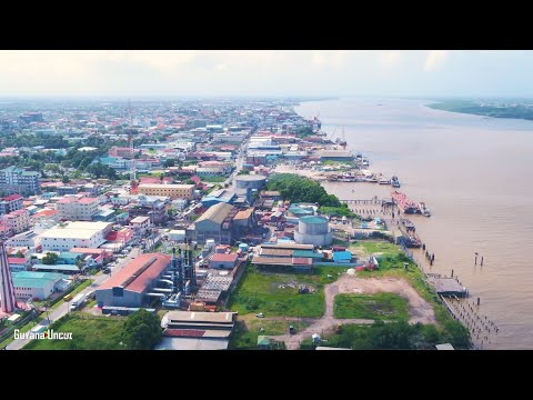 GUYANA FROM ABOVE PT.5 || WATER STREET || GEORGETOWN