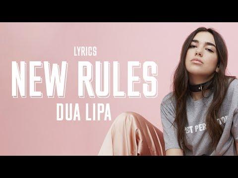 Dua Lipa - New  Rules with HD Lyrics