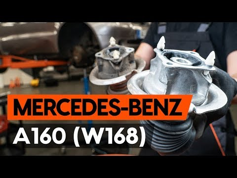 How to replace front strut mount / top munt MERCEDES-BENZ A160 (W168) [TUTORIAL AUTODOC]