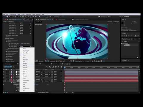 Tutorial After Effect Open 3D Broadcast News