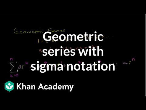 Geometric series | Sequences, series and induction | Precalculus | Khan Academy