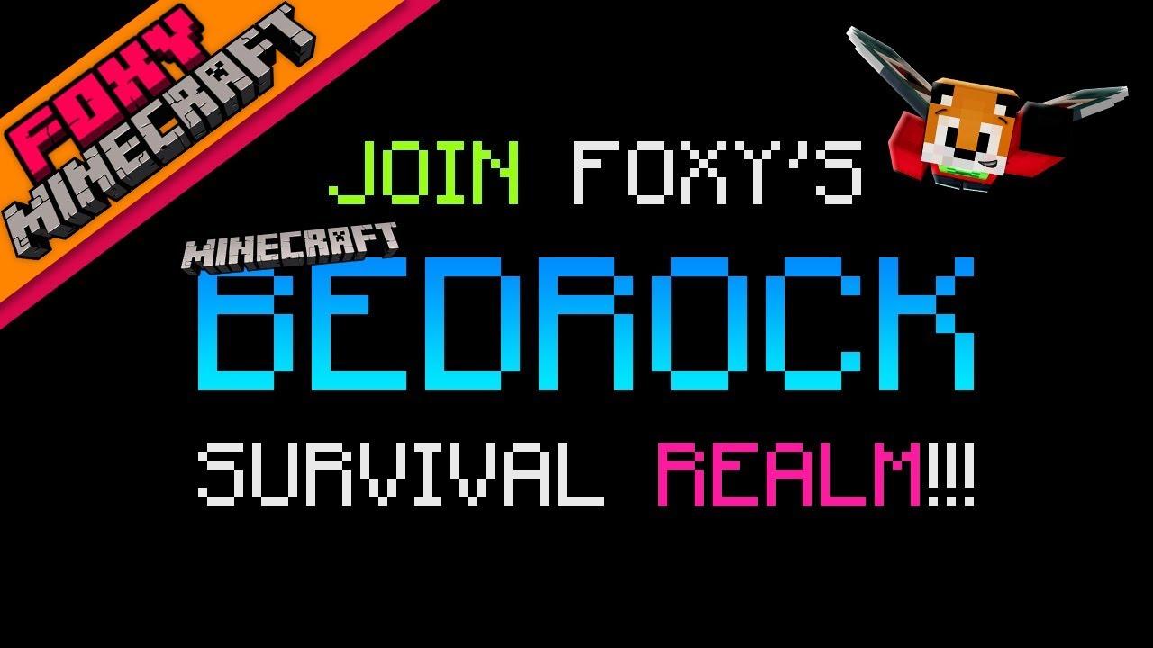 Minecraft   JOIN MY BEDROCK SURVIVAL WORLD   Foxy's Bedrock Survival [42]