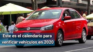 Este es el calendario para verificar vehículos en primer semestre de 2020 en CDMX
