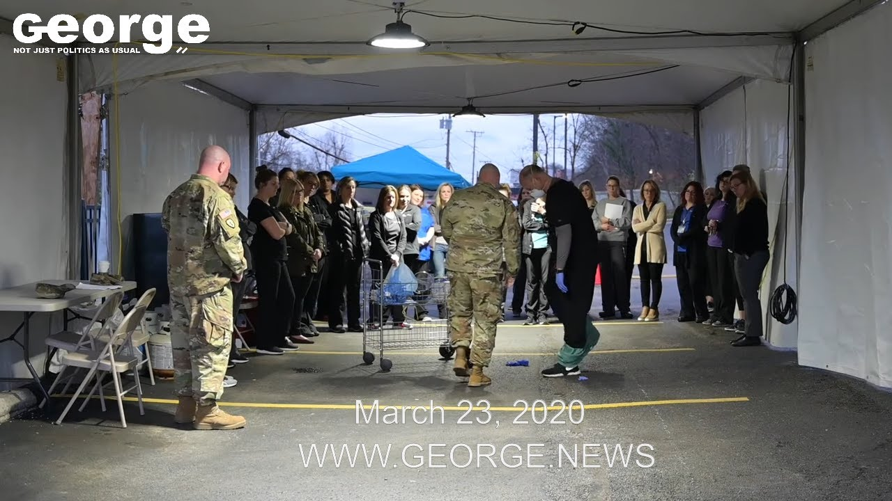 West Virginia National Guard: Operation COVID19, March 23, 2020 @GEORGEnews