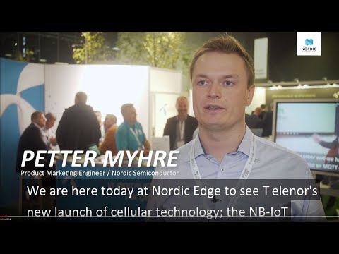 Nordic Semiconductor demonstrates LTE-M and NB-IoT on the nRF91 Series with  Telenor at Nordic Edge