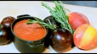 Stone Fruit Soup Recipe - Sweet Summer Soup with Peaches, Plums & Red Wine