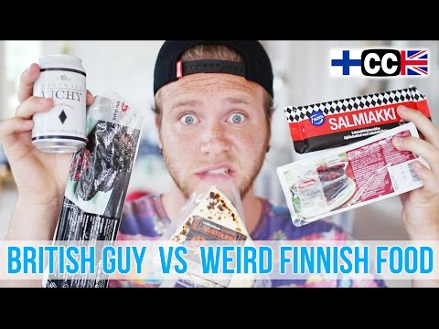 British Guy VS Weird Finnish Food | Part 1 | Dave Cad