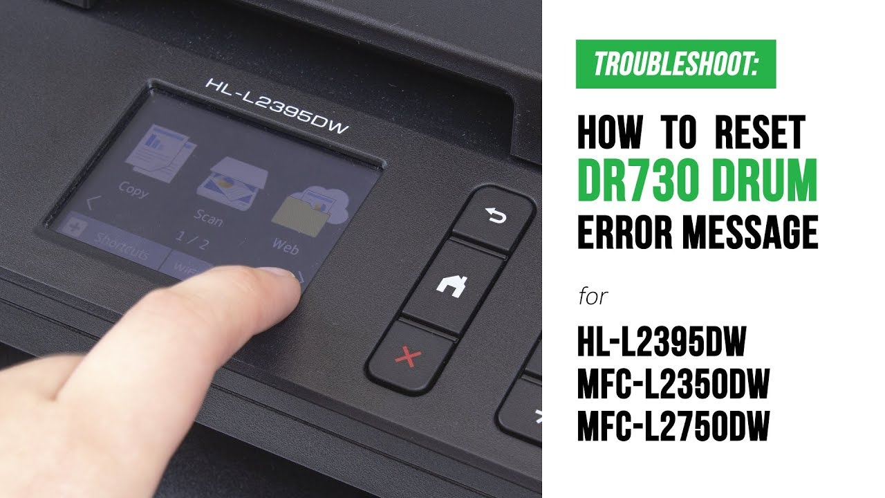 How To Manual Reset Dr730 Replace Drum Error On Brother Hl