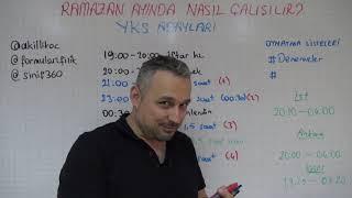 2019 RAMAZAN AYI DERS ÇALIŞMA PROGRAMI. REHBERLİK VE MOTİVASYON.