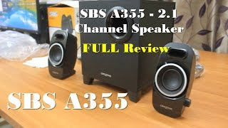 Creative SBS A355 Speaker Review | 2.1 Channel Speaker 2015
