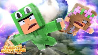 TORANDO VS OUR HOUSE! WILL WE SURVIVE? Minecraft Parents Aren