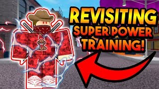 REVISITING SUPER POWER TRAINING SIMULATOR!? (WHAT'S NEW?) (ROBLOX)