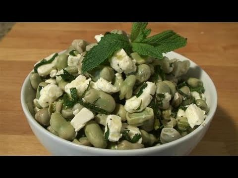 How To Cook A Delcious Broad Bean Salad With Feta Cheese