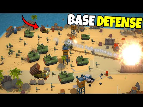 EPIC Base Defense in NEW Battle Simulator!? - Warpips: Tug of War Game |