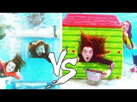 BEST UNDERWATER HOUSE WINS *mystery judge* Challenge w/ The Norris Nuts