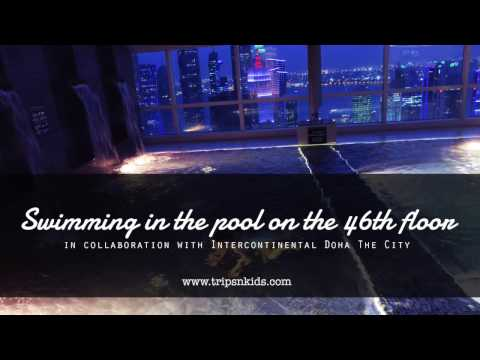 Swimming pool on the 46th floor at Intercontinental Doha The City