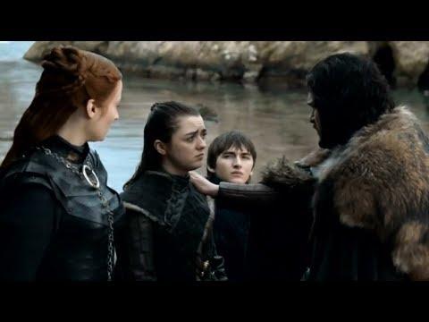 Джон Сноу прощается со Старками. Игра Престолов 8 сезон 6 серия.Game Of Thrones.
